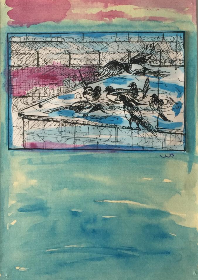 acquerello Wolfgang Bertacchi artista svizzero Pesce di Pace Venezia.jpg