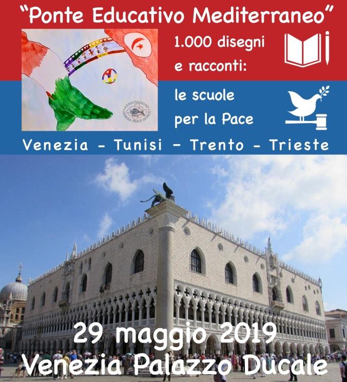 Venezia Palazzo Ducale 29 maggio 2019 evento finale Festival Sviluppo Sostenibile 2019 Progetto Ponte Educativo Mediterraneo
