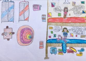 010 foto disegno 5^A elem collegio arcivescovile trento scuola 2019 pesce di pace PONTE EDUCATIVO MEDITERRANEO