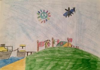 012 disegno MURANO Scuola Cerutti - Progetto Ponte Educativo Mediterraneo Venezia Pesce di Pace