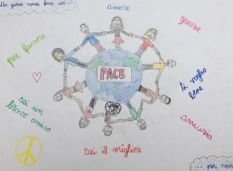 012 foto disegno 5^A elem collegio arcivescovile trento scuola 2019 pesce di pace PONTE EDUCATIVO MEDITERRANEO
