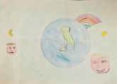 015 disegno-murano-scuola-cerutti-progetto-ponte-educativo-mediterraneo-venezia-pesce-di-pace classe quarta