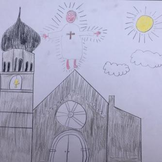 015 foto disegno 4^A elem collegio arcivescovile trento scuola 2019 pesce di pace
