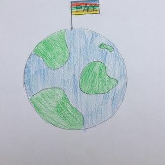 018 foto disegno 5^A elem collegio arcivescovile trento scuola 2019 pesce di pace PONTE EDUCATIVO MEDITERRANEO