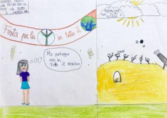 019 foto disegno 5^A elem collegio arcivescovile trento scuola 2019 pesce di pace PONTE EDUCATIVO MEDITERRANEO