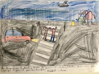 02 disegno Trieste Scuola Morpurgo Progetto Ponte Educativo Mediterraneo di Venezia Pesce di Pace