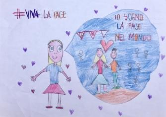 020 foto disegno 5^A elem collegio arcivescovile trento scuola 2019 pesce di pace PONTE EDUCATIVO MEDITERRANEO
