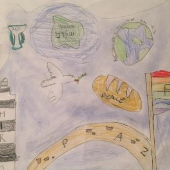021 disegno MURANO Scuola Cerutti - Progetto Ponte Educativo Mediterraneo Venezia Pesce di Pace
