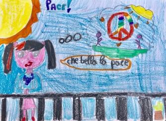 03 foto disegno 5^A elem collegio arcivescovile trento scuola 2019 pesce di pace PONTE EDUCATIVO MEDITERRANEO