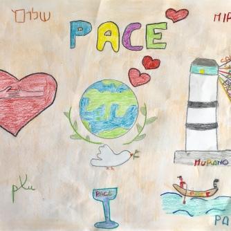 04 disegno MURANO Scuola Cerutti - Progetto Ponte Educativo Mediterraneo Venezia Pesce di Pace