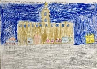 04 disegno Trieste Scuola Morpurgo Progetto Ponte Educativo Mediterraneo di Venezia Pesce di Pace