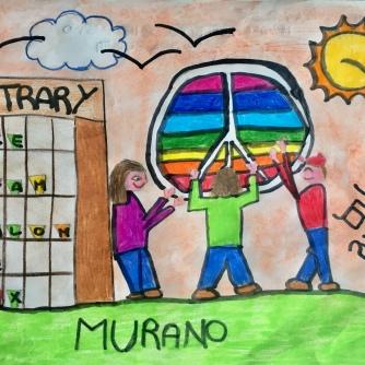 05 disegno MURANO Scuola Cerutti - Progetto Ponte Educativo Mediterraneo Venezia Pesce di Pace
