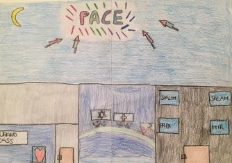 08 disegno MURANO Scuola Cerutti - Progetto Ponte Educativo Mediterraneo Venezia Pesce di Pace