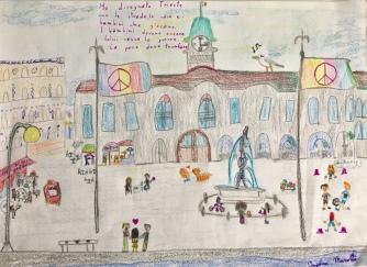 08 disegno Trieste Scuola Morpurgo Progetto Ponte Educativo Mediterraneo di Venezia Pesce di Pace