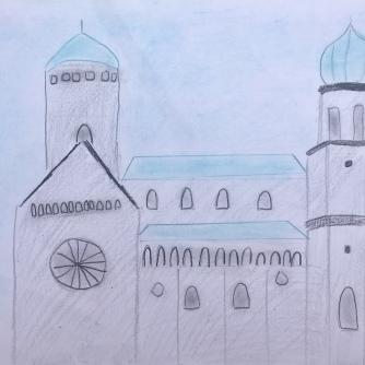 09 foto disegno 4^A elem collegio arcivescovile trento scuola 2019 pesce di pace