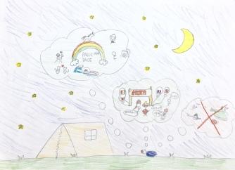 09 foto disegno 5^A elem collegio arcivescovile trento scuola 2019 pesce di pace PONTE EDUCATIVO MEDITERRANEO