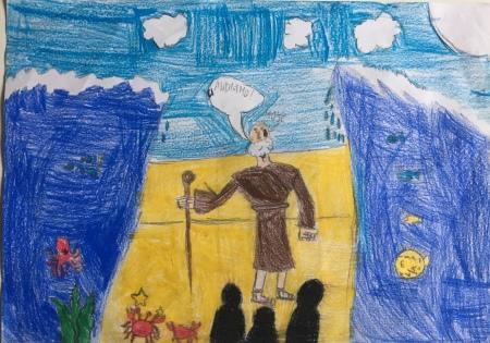 00 Venezia Istituto Cavanis padri Dorsoduro scuola disegni Progetto Ponte Educativo Mediterraneo pesce di pace - classe quinta