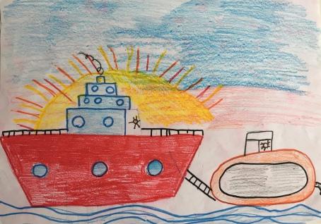 01 Venezia Istituto Cavanis padri Dorsoduro scuola disegni Progetto Ponte Educativo Mediterraneo pesce di pace - classe quarta