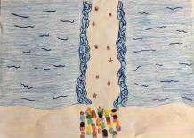 01 Venezia Istituto Cavanis padri Dorsoduro scuola disegni Progetto Ponte Educativo Mediterraneo pesce di pace - classe quinta