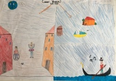 011 scuola primaria zambelli venezia pesce di pace mappa ponte educativo mediterraneo - CLASSE QUARTA DISEGNI