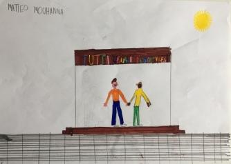 011 Venezia Istituto Cavanis padri Dorsoduro scuola disegni Progetto Ponte Educativo Mediterraneo pesce di pace - classe quarta
