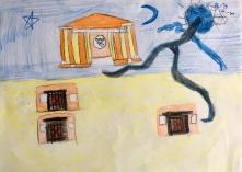 012 Venezia Istituto Cavanis padri Dorsoduro scuola disegni Progetto Ponte Educativo Mediterraneo pesce di pace - classe quinta