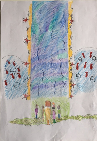 016 Venezia Istituto Cavanis padri Dorsoduro scuola disegni Progetto Ponte Educativo Mediterraneo pesce di pace - classe quinta