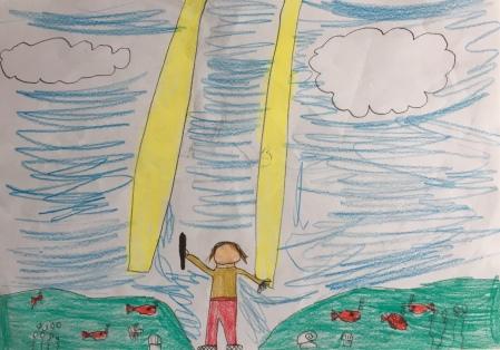 017 Venezia Istituto Cavanis padri Dorsoduro scuola disegni Progetto Ponte Educativo Mediterraneo pesce di pace - classe quinta