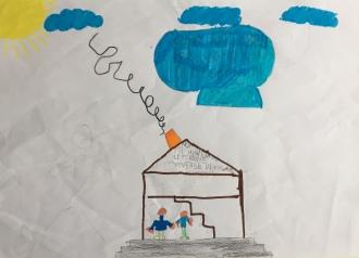 018 Venezia Istituto Cavanis padri Dorsoduro scuola disegni Progetto Ponte Educativo Mediterraneo pesce di pace - classe quarta