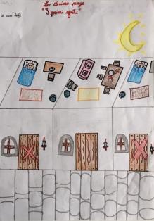 018 Venezia Istituto Cavanis padri Dorsoduro scuola disegni Progetto Ponte Educativo Mediterraneo pesce di pace - classe quinta