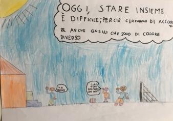 019 Venezia Istituto Cavanis padri Dorsoduro scuola disegni Progetto Ponte Educativo Mediterraneo pesce di pace - classe quarta