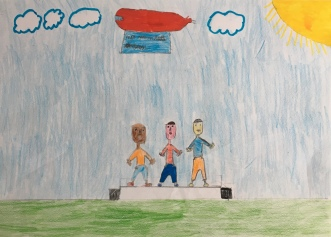 020 Venezia Istituto Cavanis padri Dorsoduro scuola disegni Progetto Ponte Educativo Mediterraneo pesce di pace - classe quarta