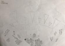 020 Venezia Istituto Cavanis padri Dorsoduro scuola disegni Progetto Ponte Educativo Mediterraneo pesce di pace - classe quinta