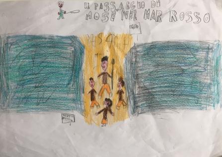 021 Venezia Istituto Cavanis padri Dorsoduro scuola disegni Progetto Ponte Educativo Mediterraneo pesce di pace - classe quinta