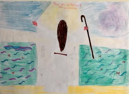 022 Venezia Istituto Cavanis padri Dorsoduro scuola disegni Progetto Ponte Educativo Mediterraneo pesce di pace - classe quinta