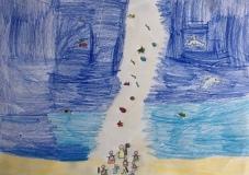 023 Venezia Istituto Cavanis padri Dorsoduro scuola disegni Progetto Ponte Educativo Mediterraneo pesce di pace - classe quinta