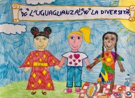 025 Venezia Istituto Cavanis padri Dorsoduro scuola disegni Progetto Ponte Educativo Mediterraneo pesce di pace - classe quarta