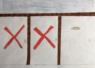 025 Venezia Istituto Cavanis padri Dorsoduro scuola disegni Progetto Ponte Educativo Mediterraneo pesce di pace - classe quinta