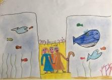 03 Venezia Istituto Cavanis padri Dorsoduro scuola disegni Progetto Ponte Educativo Mediterraneo pesce di pace - classe quinta