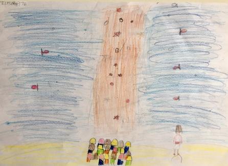 05 Venezia Istituto Cavanis padri Dorsoduro scuola disegni Progetto Ponte Educativo Mediterraneo pesce di pace - classe quinta