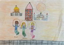 06 classe 5A Scuola Giacinto Gallina - Ponte Educativo Mediterraneo Venezia Pesce di Pace