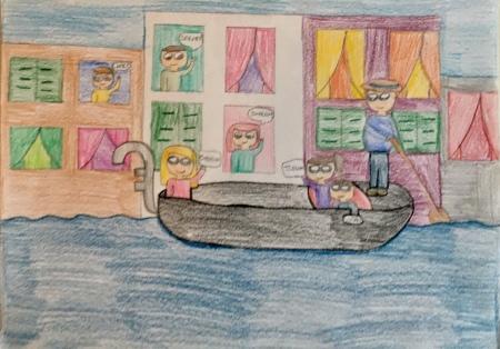 07 classe 5A Scuola Giacinto Gallina - Ponte Educativo Mediterraneo Venezia Pesce di Pace