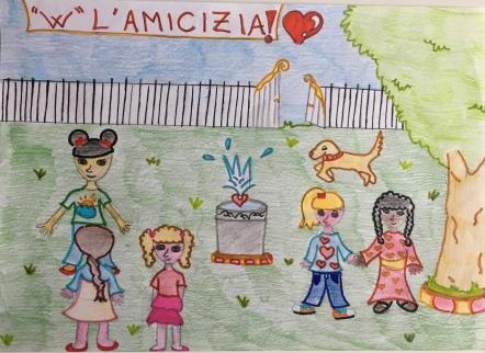 07 Venezia Istituto Cavanis padri Dorsoduro scuola disegni Progetto Ponte Educativo Mediterraneo pesce di pace - classe quarta