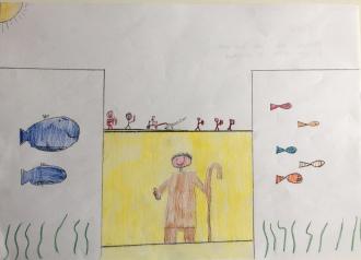 07 Venezia Istituto Cavanis padri Dorsoduro scuola disegni Progetto Ponte Educativo Mediterraneo pesce di pace - classe quinta