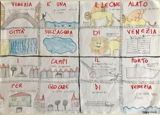 08 scuola primaria zambelli venezia pesce di pace mappa ponte educativo mediterraneo - CLASSE QUARTA DISEGNI