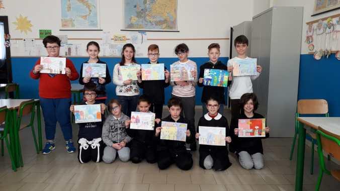 FOTO BURANO Scuola Alfredo Di Cocco classe quarta - Progetto Ponte Educativo Mediterraneo Venezia Pesce di Pace.JPG