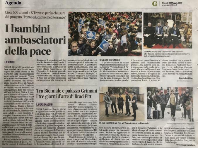 Ponte Educativo Mediterraneo - il gazzettino di venezia 30 maggio 2019.png