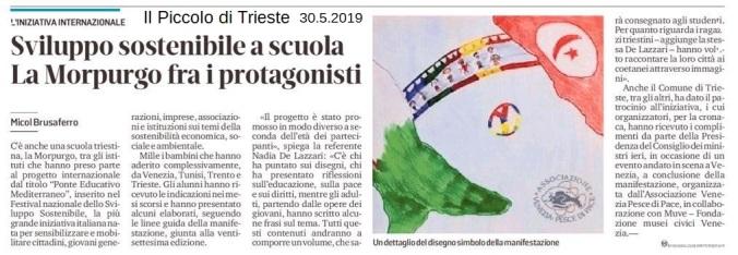 Ponte Educativo Mediterraneo - il piccolo di trieste 30 maggio 2019.JPG